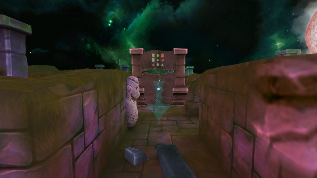 World of Mazes - Chapter 1 Screenshot - Stone Door Puzzle